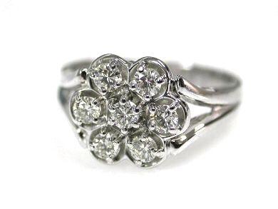 Vintage Diamond Rosette Ring