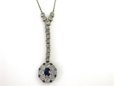 69488-November/Sapphire Pendant Cynthia Findlay Antiques CFA1211208