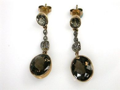 69488-November/Smoky Quartz Earrings Cynthia Findlay Antiques CFA1211210