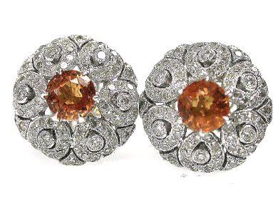 Spessartite Garnet Earrings