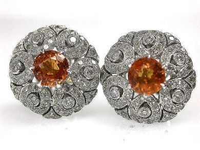 69488-November/Spessarite Garnet Earrings Cynhia Findlay Antiques CFA1211218