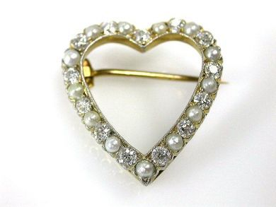 69488-November/Tiffany Heart Brooch Cynthia Findlay Antiques CFA1211180