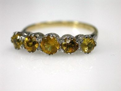 69488-November/Yellow Sapphire Ring Cynthia Findlay Antiques CFA1211157