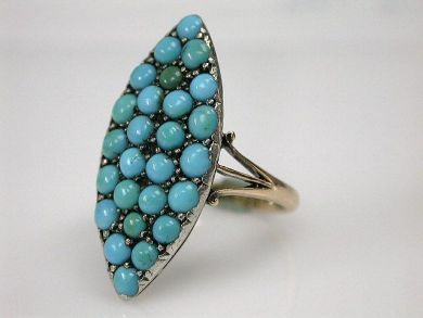 69537-January/Antique Turqoise Ring Cynthia Findlay Antiques CFA1211366