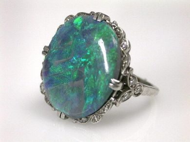 69537-January/Art Deco Opal Ring Cynthia Findlay Antiques CFA1211364