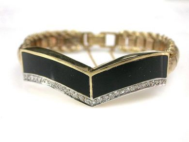 69537-January/Black Onyx Bracelet Cynthia Findlay Antiques CFA1211378