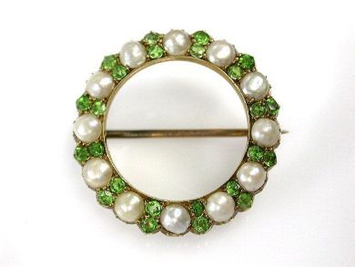 69537-January/Demantoid Garnet Wreath Brooch Cynthia Findlay Antiques CFA1211173