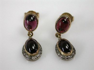 69537-January/Garnet Drop Earrings Cynthia Findlay Antiques CFA1211377