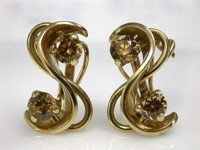 69537-January/Gold Zircon Earrings Cynthia Findlay Antiques CFA1211204