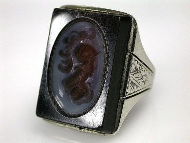 69537-January/Intaglio Ring Cynthia Findlay Antiques CFA1211206