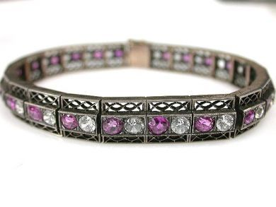 69537-January/Ruby Bracelet Cynthia Findlay Antiques CFA1211379