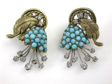 69537-January/Turquoise Earrings Cynthia Findlay Antiques CFA1211384