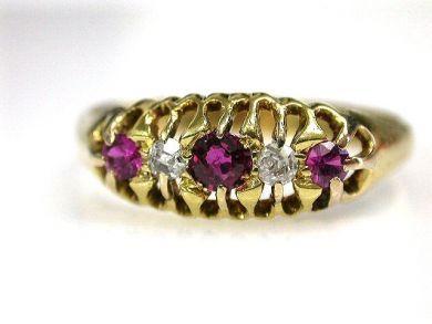 69537-January/Victorian Ruby Ring Cynthia Findlay Antiques CFA1210334