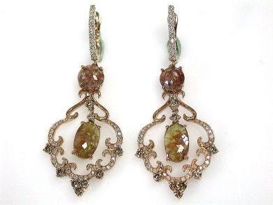 69599-January/Brown Diamond Earrings Cynthia Findlay Antiques CFA1211332