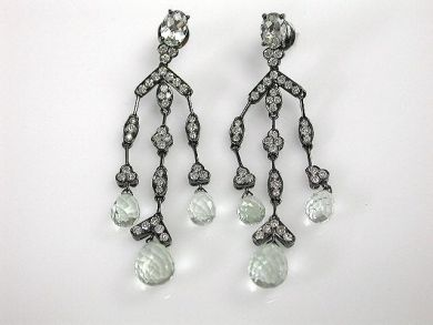 69599-January/Green Quartz Earrings Cynthia Findlay Antiques CFA1211337