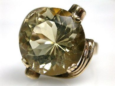 69599-January/Retro Citrine Ring Cynthia Findlay Antiques CFA1211347