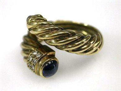69599-January/Twisted Gold Ring  Cynthia Findlay Antiques CFA1211282