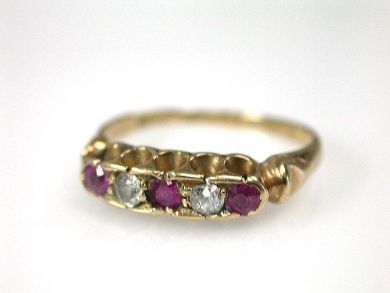 69599-January/Victorian Ruby Ring Cynthia Findlay Antiques CFA1211286