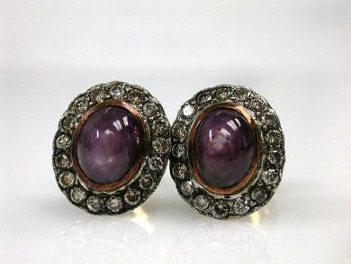 69790-updates/Star Ruby Earrings Cynthia Findlay Antiques CFA121226
