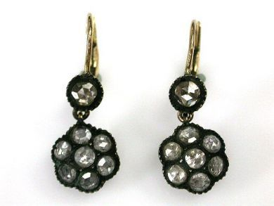 69795-January/Antique Diamond Earrings Cynthia Findlay Antiques CFA1212135