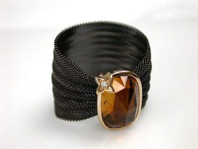 69795-January/Citrine Mesh Ring Cynthia Findlay Antiques CFA1212133