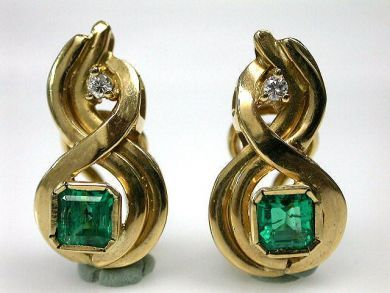 69795-January/Emerald Earrings Cynthia Findlay Antiques CFA1212277