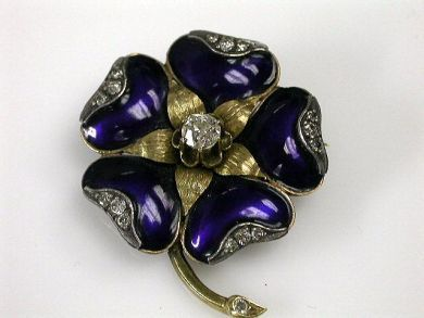 69795-January/Enamel Flower Cynthia Findlay Antiques CFA1212244