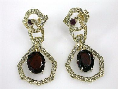69795-January/Garnet Earrings Cynthia Findlay Antiques CFA1212144