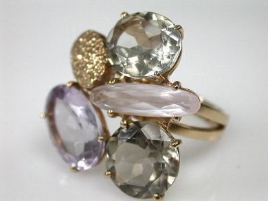 69795-January/Multistone Cluster Ring Cynthia Findlay Antiques CFA1212249