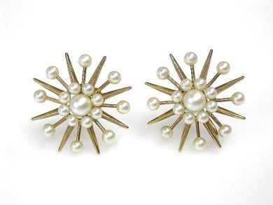69795-January/Pearl Starburst Earrings Cynthia Findlay Antiques CFA1212130