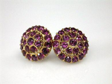 Vintage Pink Sapphire Cluster Earrings