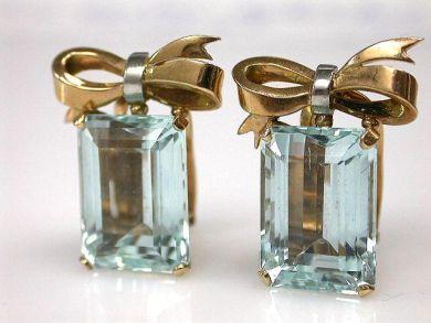 69795-January/Retro Aquamarine Earrings Cynthia Findlay Antiques CFA1212170