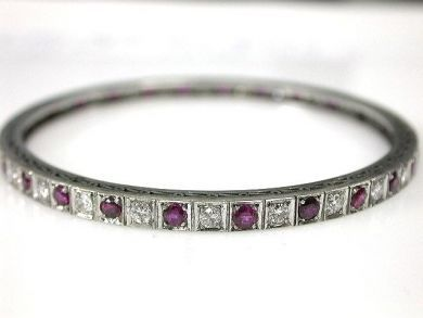 69795-January/Ruby and Diamond Bangle Cynthia Findlay Antiques CFA1212166
