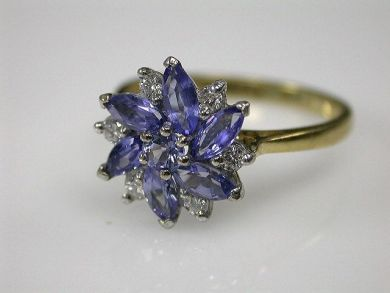 69795-January/Tanzanite Cluster Cynthia Findlay Antiques CFA1212251