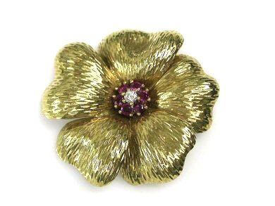 Tiffany Flower Brooch