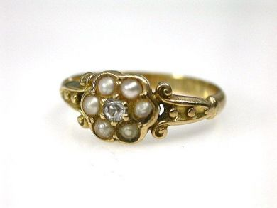 69795-January/Victorian Pearl Cluster Ring Cynthia Findlay Antiques CFA1212285