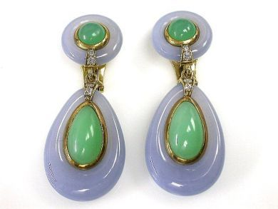 69994-January/Chalcedony and Chrysoprase Earrings Cynthia Findlay Antiques CFA1212374