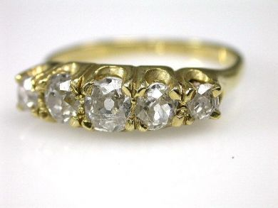 69994-January/Five Stone Antique Ring Cynthia Findlay Antiques CFA1212370