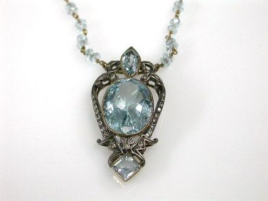 70024-January/Blue Topaz Pendant Cynthia Findlay Antiques CFA1212348