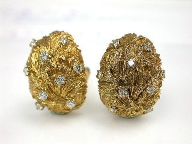70024-January/Handmade Diamond Earrings Cynthia Findlay Antiques CFA1212314