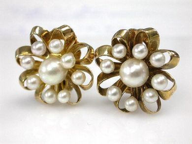 70024-January/Pearl Cluster Earrings Cynthia Findlay Antiques CFA1212325