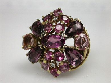 70024-January/Tourmaline Cluster Ring at Cynthia Findlay Antiques CFA1212323