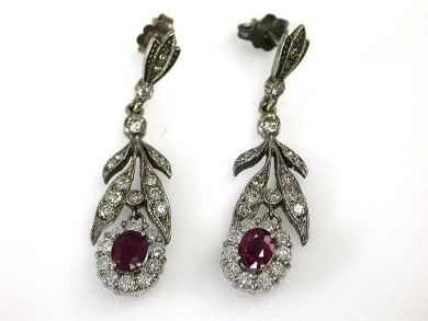 70024-January/Vintage Ruby Earrings Cynthia Findlay Antiques CFA1212362