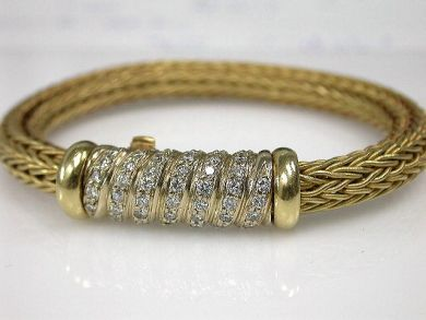 70069-February/Diamond Rope Bracelet Cynthia Findlay Antiques CFA130109