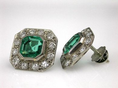 70069-February/Emerald Earrings Cynthia Findlay Antiques CFA1212387