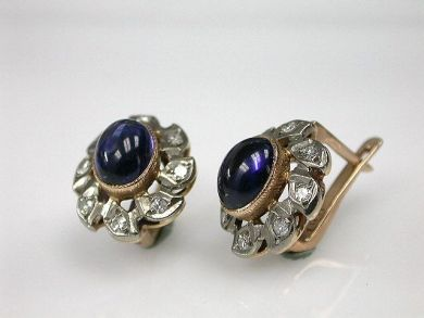 70069-February/Floral Sapphire Earrings Cynthia Findlay Antiques CFA1212395