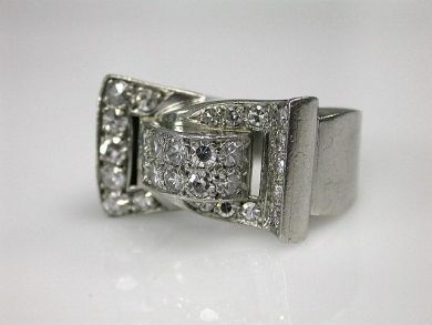 70069-February/Retro Diamond Ring Cynthia Findlay Antiques CFA130101