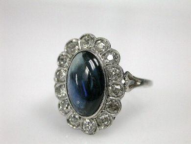 70069-February/Vintage Sapphire Ring Cynthia Findlay Antiques CFA130102
