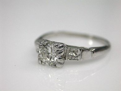 70080-January/Platinum Diamond Ring Cynthia Findlay Antiques CFA1212418