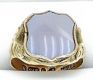 70106-February/Carnelian Shield Ring Cynthia Findlay Antiques 011113 29